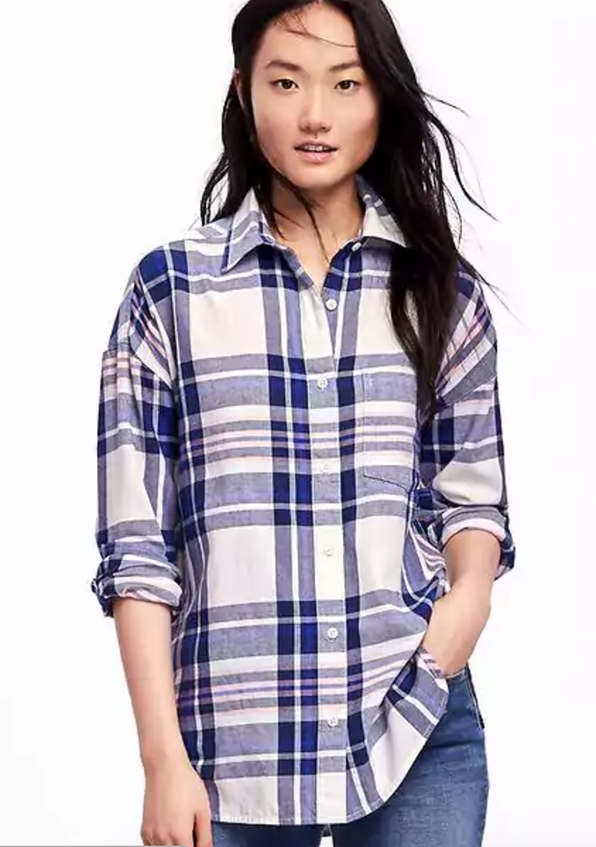 The Face of Style - Best Of Button Downs - Old Navy Boyfriend Flannel