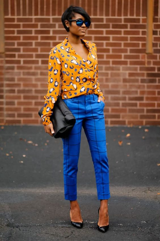 Outfit Inspiration - Bright Blue Trousers - The Face Of Style