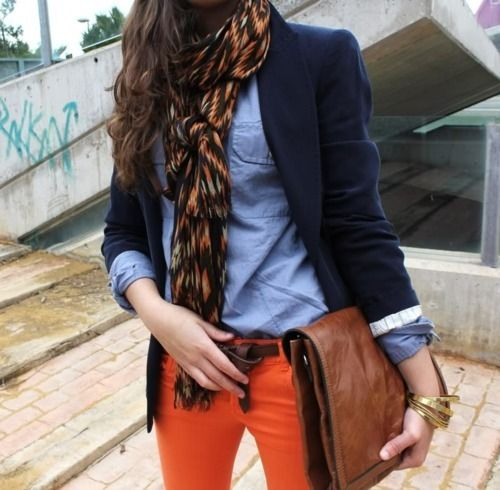 Outfit Inspiration - Good Orange Jeans - The Face Of Style