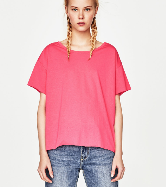 5 Pieces to Brighten Up Your Wardrobe - Zara Pink T-shirt- The Face Of Style