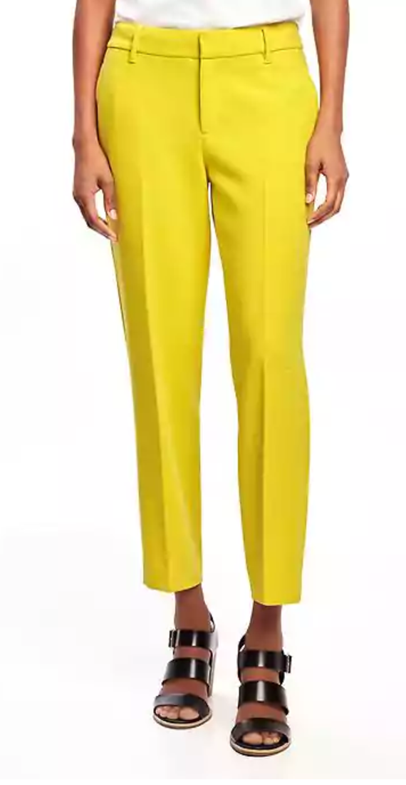 5 Pieces to Brighten Up Your Wardrobe - Old Navy Yellow Trousers - The Face Of Style