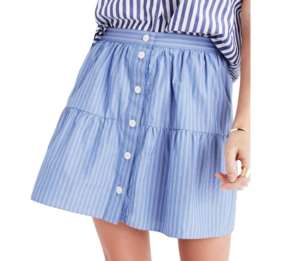 The Face Of Style: 20 Best Picks From Nordstrom Half Yearly Sale - Madewell Blue Skirt