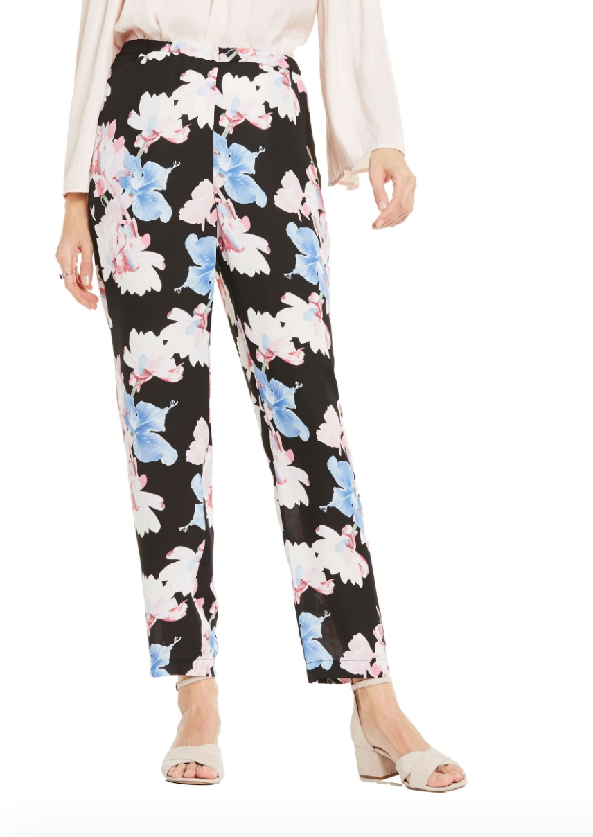 The Face Of Style: 20 Best Picks From Nordstrom Half Yearly Sale - Vince Camuto Floral Ankle Pants