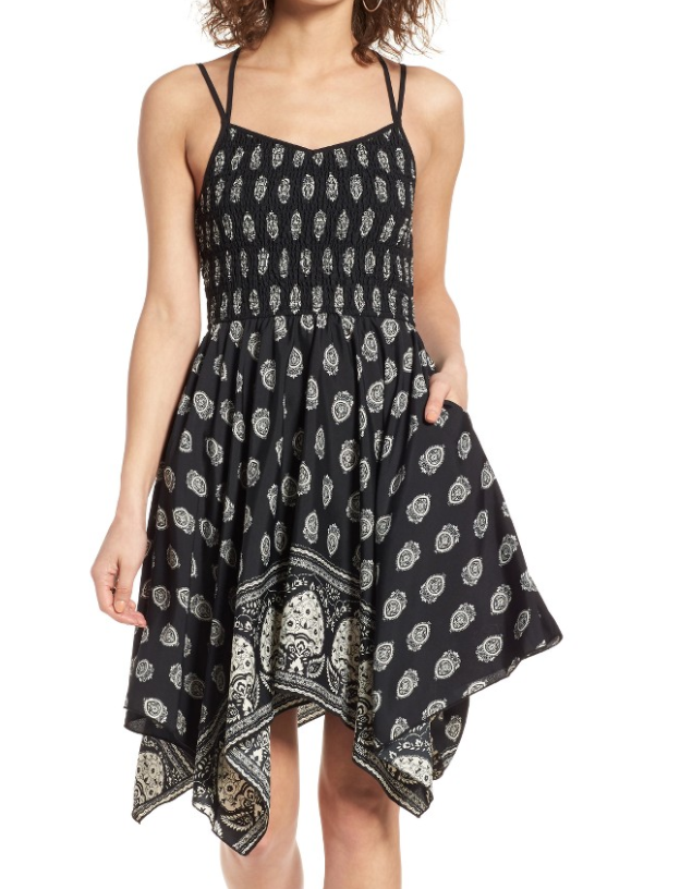 The Face Of Style: 20 Best Picks From Nordstrom Half Yearly Sale - Band Of Gypsies Handkerchief Dress