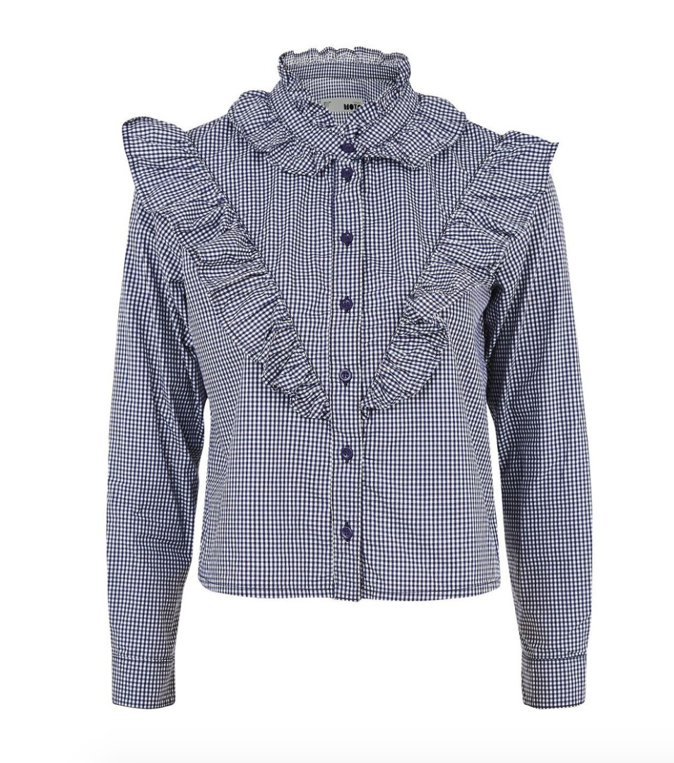The Face Of Style: 20 Best Picks From Nordstrom Half Yearly Sale - Topshop Gingham Ruffle Shirt