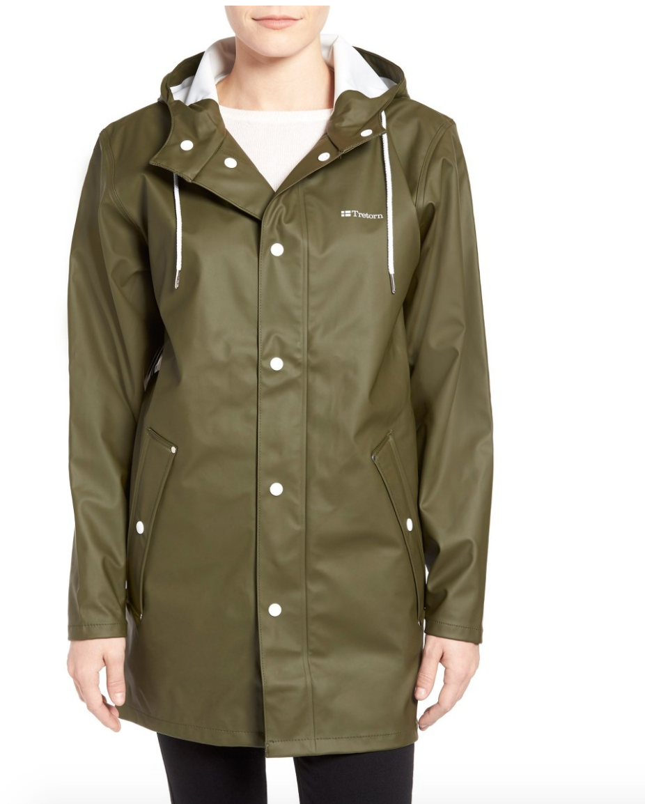 The Face Of Style: 20 Best Picks From Nordstrom Half Yearly Sale - Treton Olive Rain Coat
