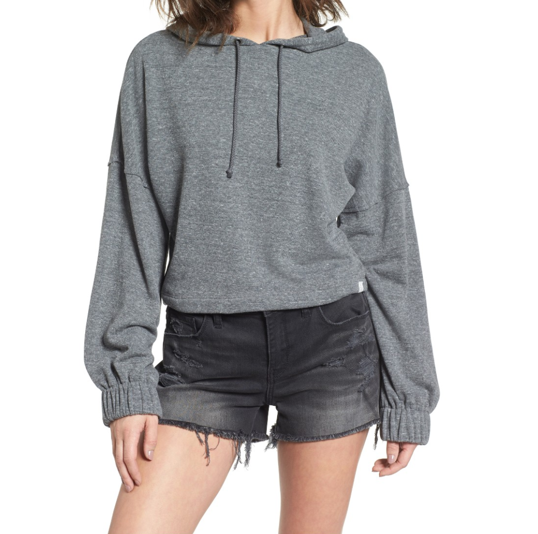 The Face Of Style: 20 Best Picks From Nordstrom Half Yearly Sale - Treasure and Bond Grey Hoodie