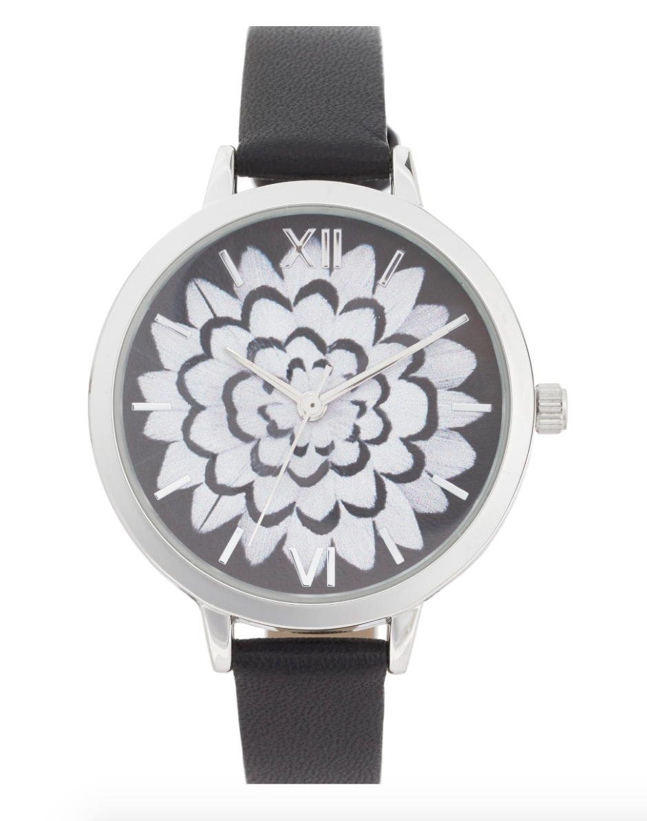 The Face Of Style: 20 Best Picks From Nordstrom Half Yearly Sale - Black Topshop Flower Watch
