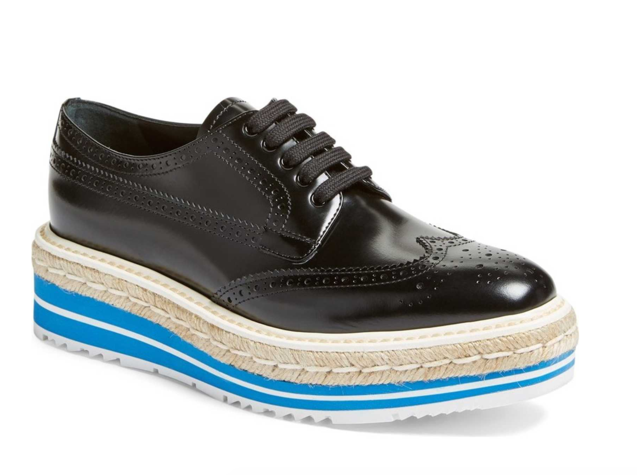 The Face Of Style: Wishlist Wednesday - Prada Microsole Espadrille Oxford