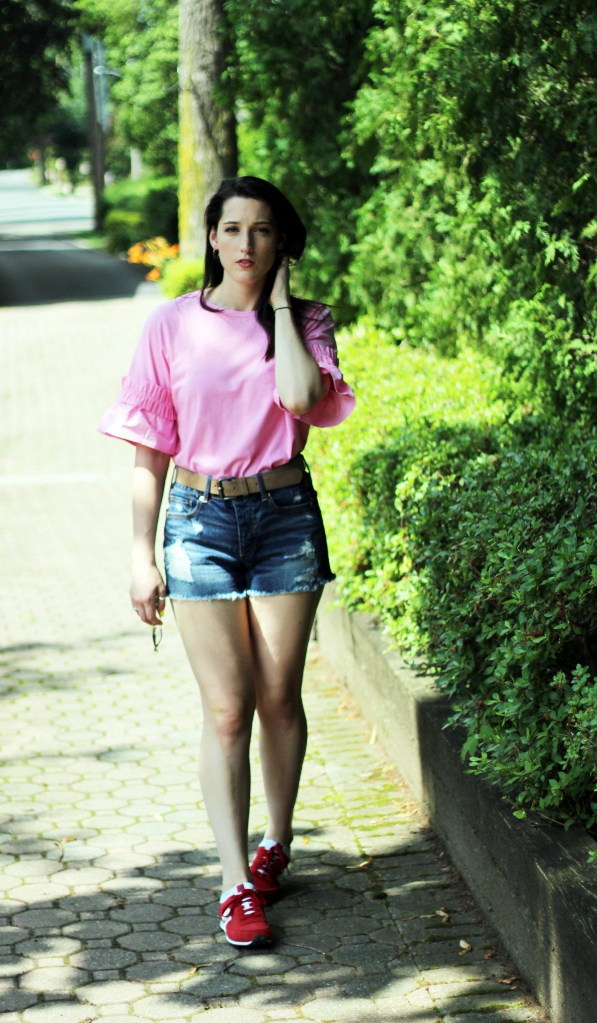 Pink Tee With A Statement Sleeve - The Face Of Style