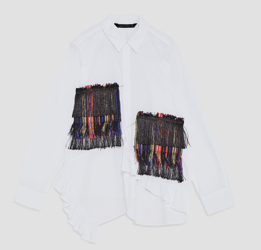 WTF Fashion - Zara Patches Poplin Shirt - The Face Of Style