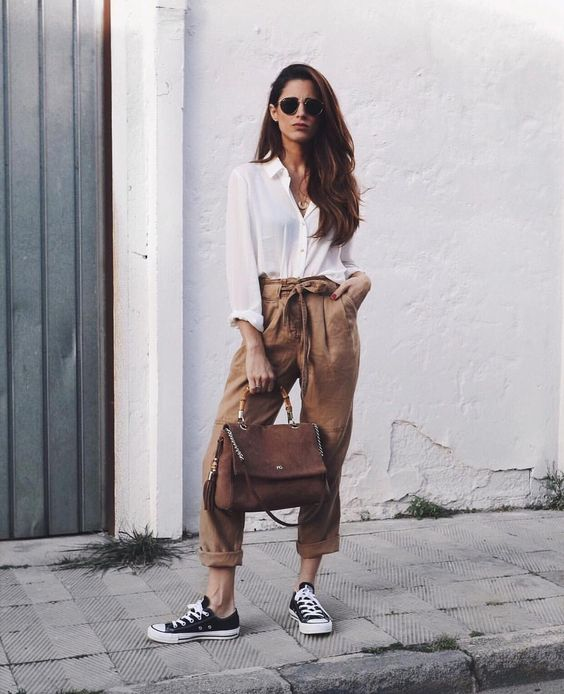 Paper Bag Waist Outfit Inspiration - The Face Of Style