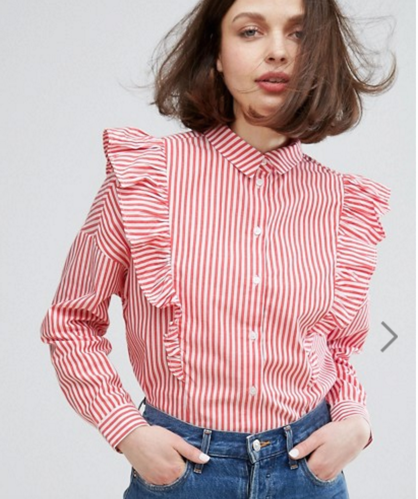 All The Red Things You Need In Your Wardrobe - ASOS Ruffle Top- The Face Of Style
