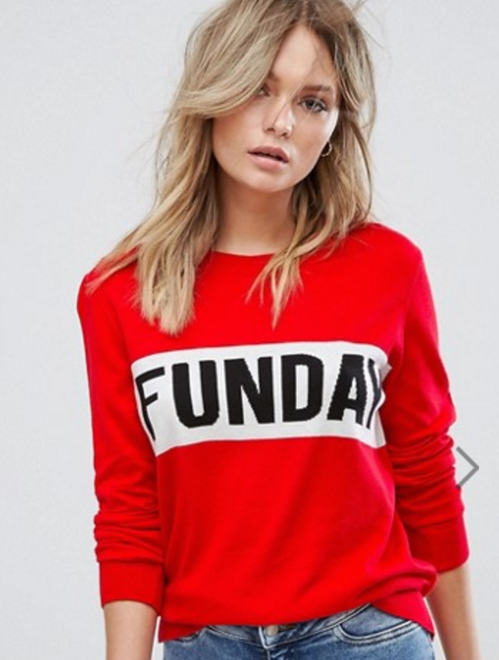 All The Red Things You Need In Your Wardrobe - ASOS Funday Sweater- The Face Of Style