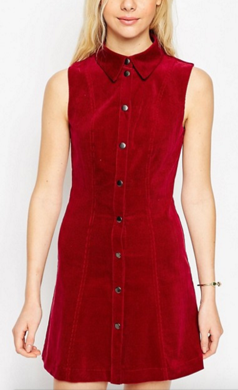 All The Red Things You Need In Your Wardrobe - ASOS Corduroy Dress- The Face Of Style