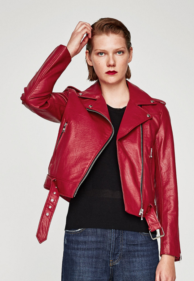 All The Red Things You Need In Your Wardrobe - Zara Faux Leather Jacket - The Face Of Style