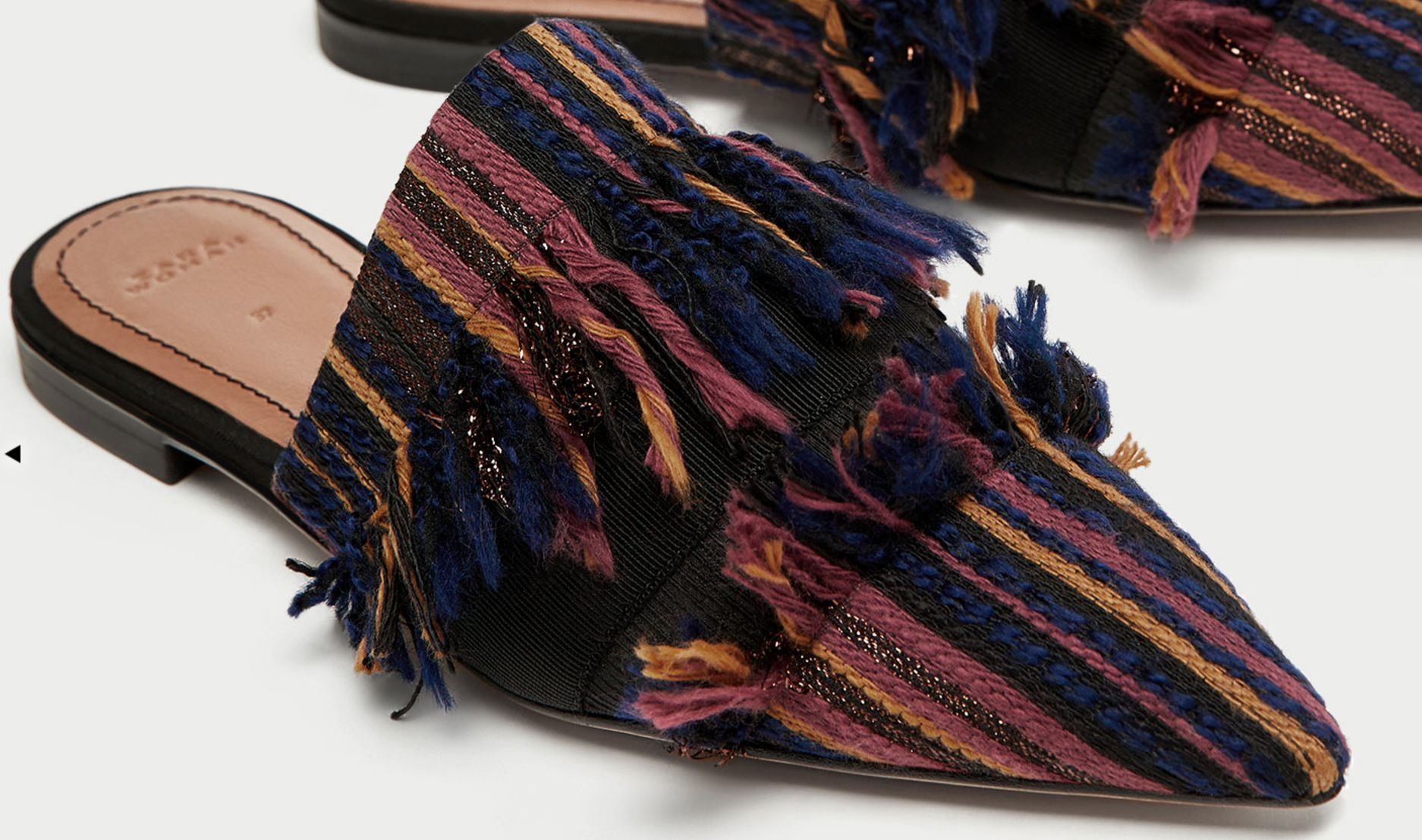6 Must Have Shoes For Fall - Zara Flat Frayed Fabric Mules - The Face Of Style