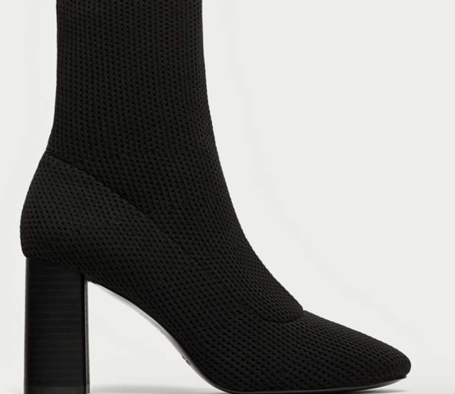 6 Must Have Shoes For Fall - Zara Fabric High Hell Ankle Boots - The Face Of Style