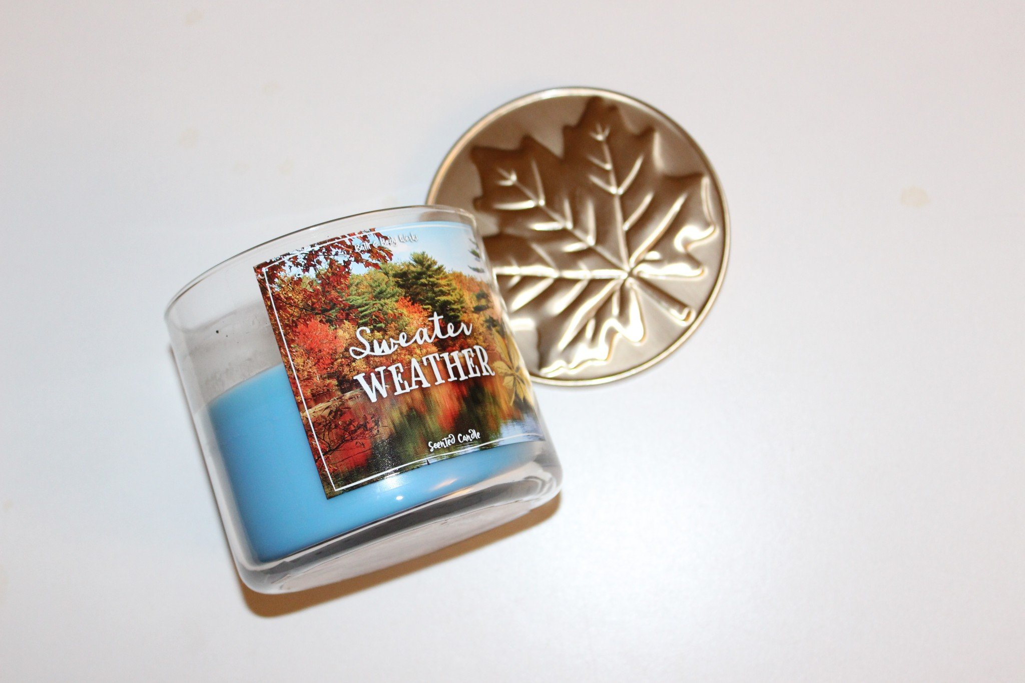 Bath and Body Works Sweater Weather Three Wick Candle - August Favorites - The Face Of Style