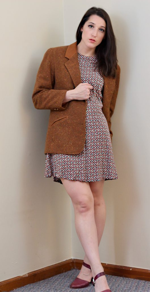 Mixing Masculine and Feminine - Blazer and Dress Combo - How She Styles