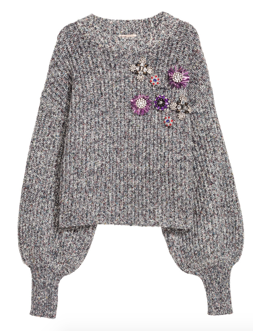 Embellished Sweater- H&M - How She Styles