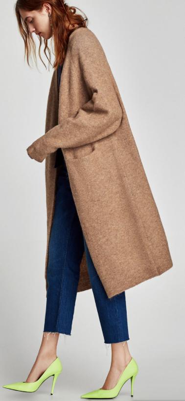 Duster Sweater - Zara - How She Styles