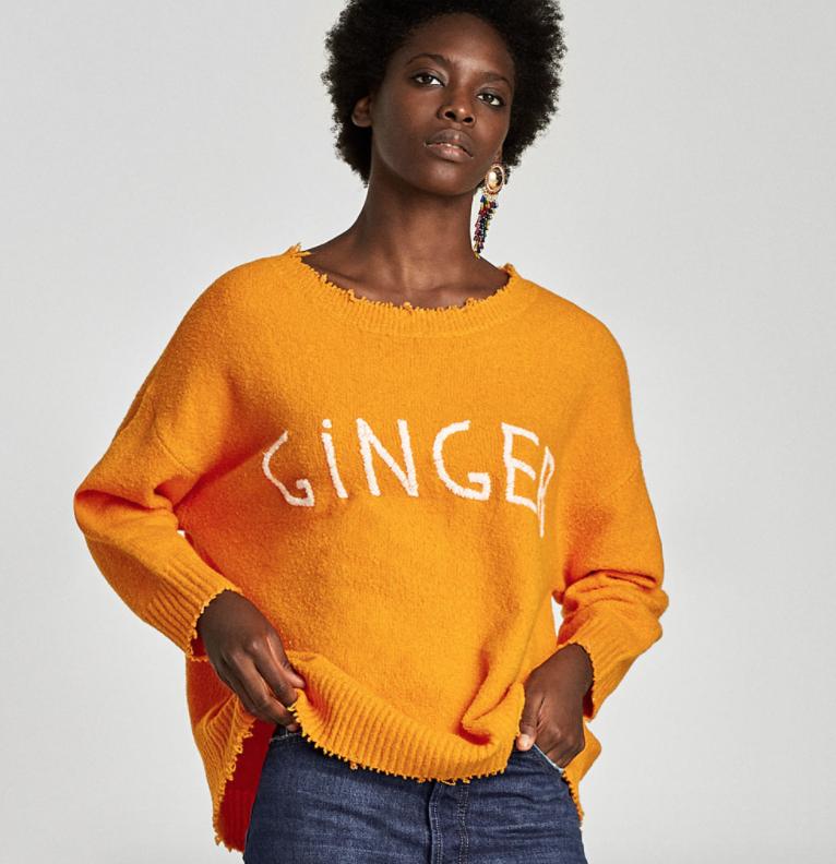 Slogan Sweater - Zara - How She Styles