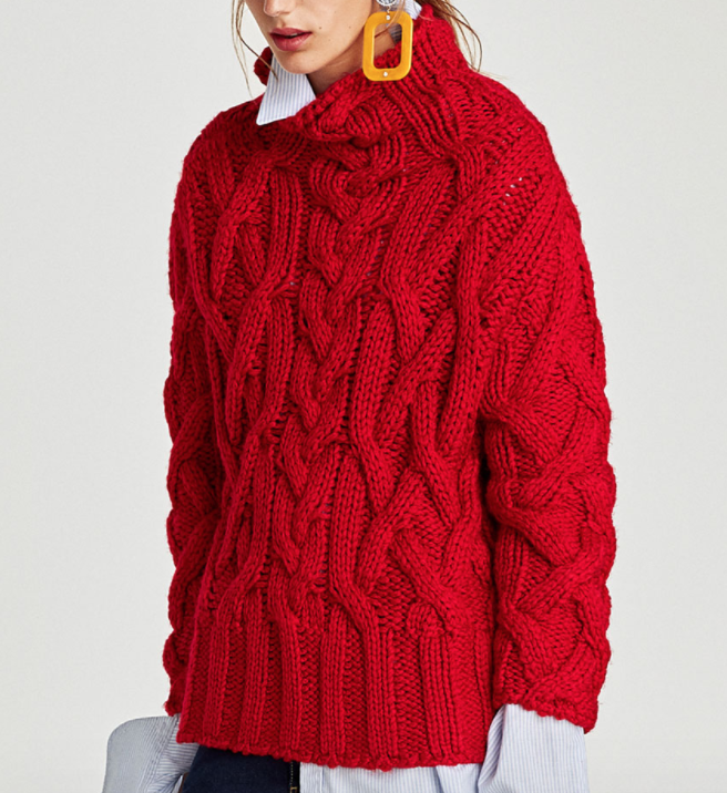 Chunky Sweater - Zara - How She Styles
