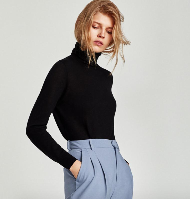 Fine Knit Layering Sweater - Zara - How She Styles