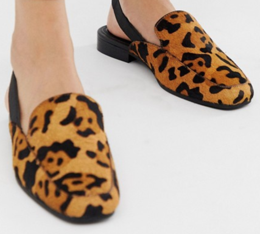 slingback loafers leopard