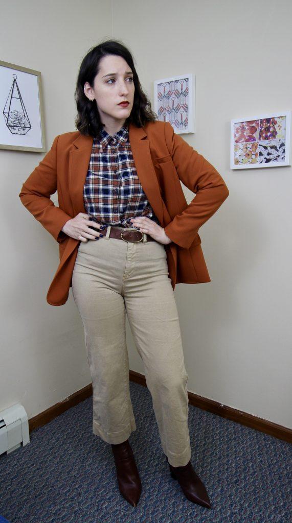 pumpkin blazer