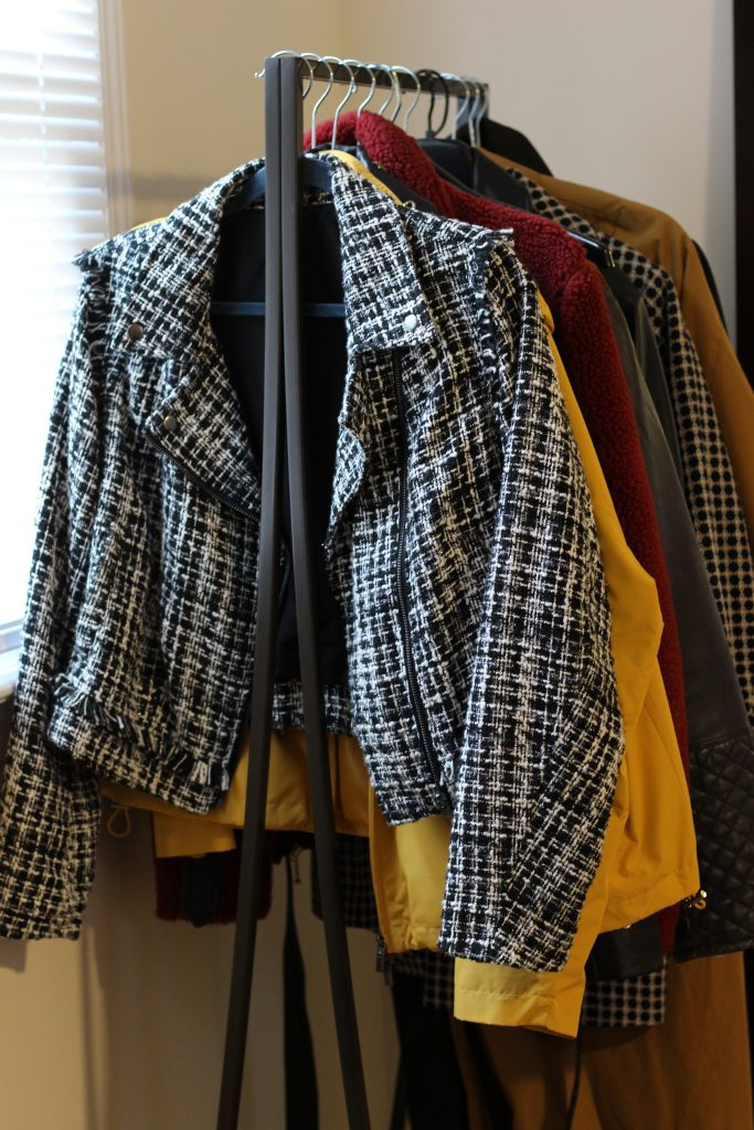 secondhand clothing rack