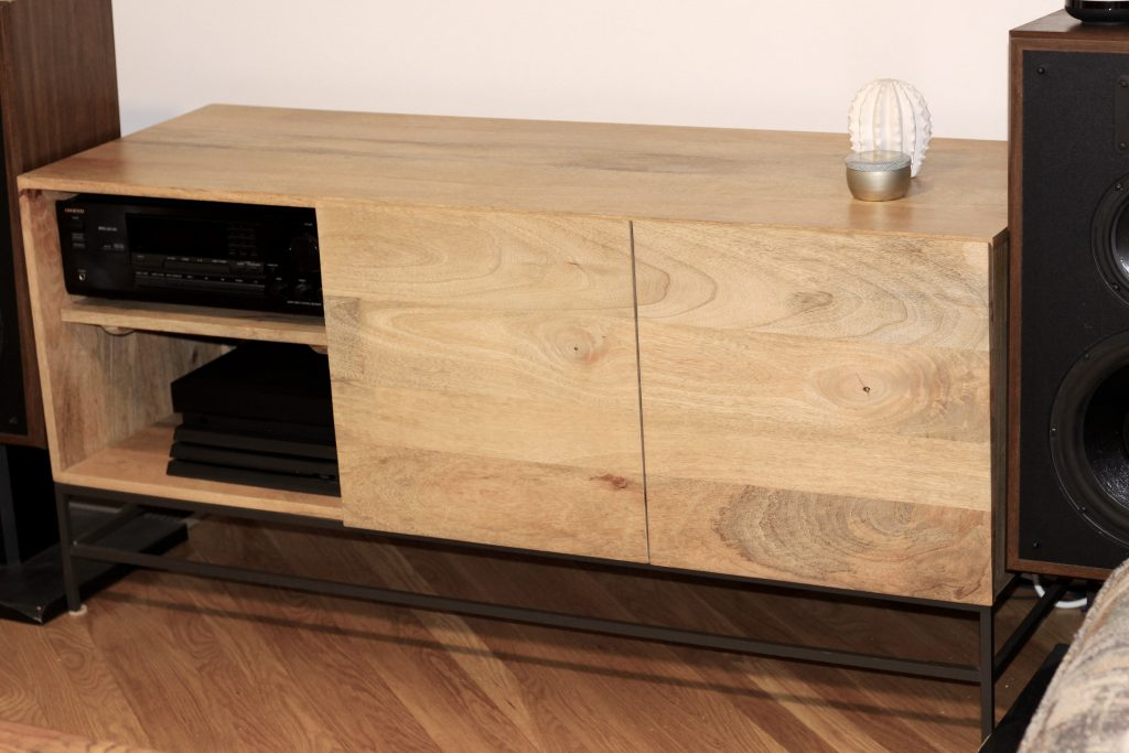 secondhand west elm tv stand